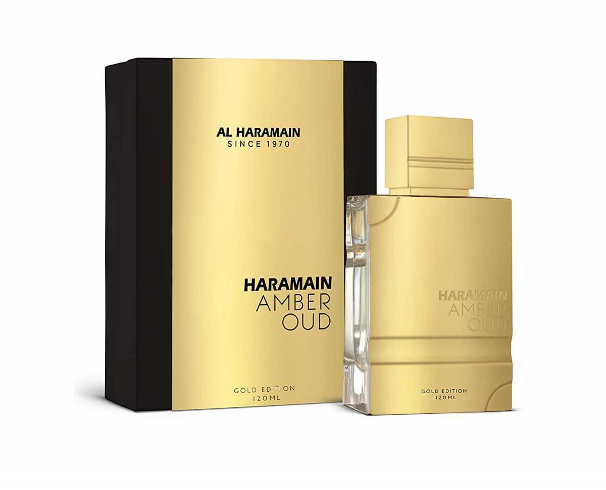 Perfume Al Haramain Amber Oud Gold Para Hombre 120 ml